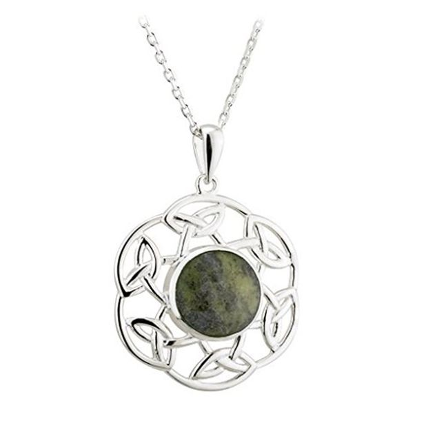 silver patrick day pendant patricks dp com knot amazon necklace irish s celtic sterling made st