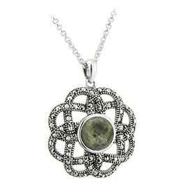 PENDANTS & NECKLACES SOLVAR STERLING & MARCASITE KNOT PENDANT
