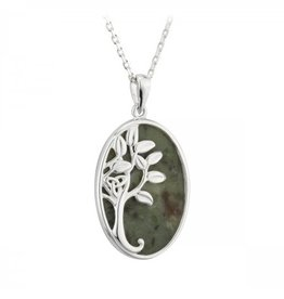 PENDANTS & NECKLACES SOLVAR STERLING & CONNEMARA OVAL TREE OF LIFE PENDANT