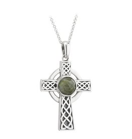 CELTIC CROSSES SOLVAR STERLING & CONNEMARA LRG CROSS