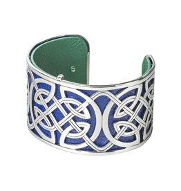 BRACELETS & BANGLES SOLVAR WIDE SILVER TONE CELTIC CUFF BANGLE