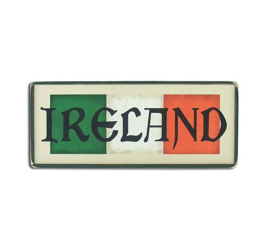 DECOR IRELAND FLAG WOOD SIGN