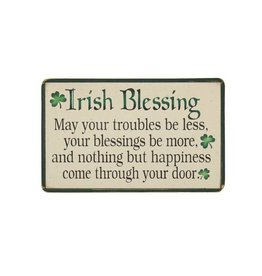 "PLAQUES, SIGNS & POSTERS ""IRISH BLESSING"" WOODEN PLAQUE"