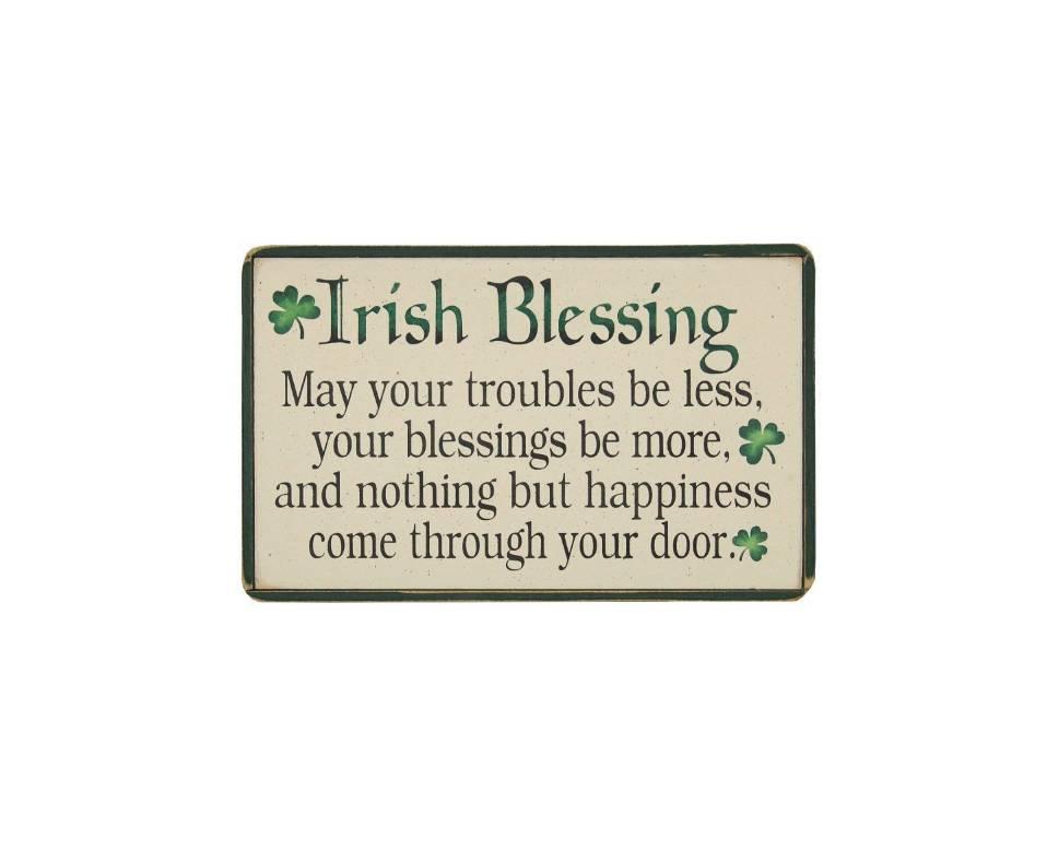 Door Blessing Plaque Amp Blessing Framed Plaque Irish