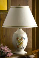 DECOR BELLEEK WICKERWEAVE PAINTED LAMP