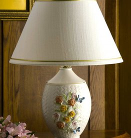 DECOR BELLEEK WICKER WEAVE PAINTED LAMP
