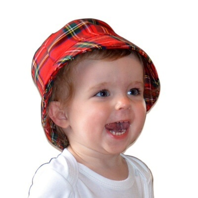 BABY CLOTHES TARTAN TOT BABY BUCKET HAT