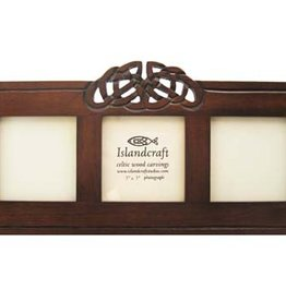 "FRAME ISLANDCRAFT 3x3"" TRIPLE CELTIC WOODEN FRAME"