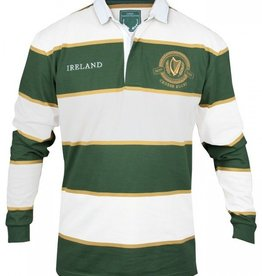 SHIRTS CROKER GREEN & WHITE STRIPE RUGBY JERSEY
