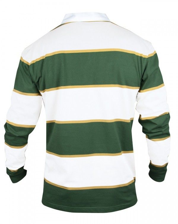 SHIRTS CROKER GREEN & WHITE STRIPE RUGBY JERSEY - Irish Crossroads