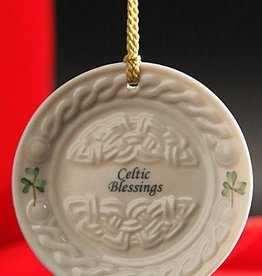 "ORNAMENTS ""CELTIC BLESSINGS"" BELLEEK PLATE ORNAMENT"
