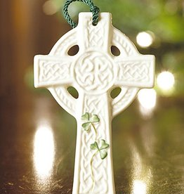 HOLIDAY ST KIERAN'S CROSS BELLEEK ORNAMENT