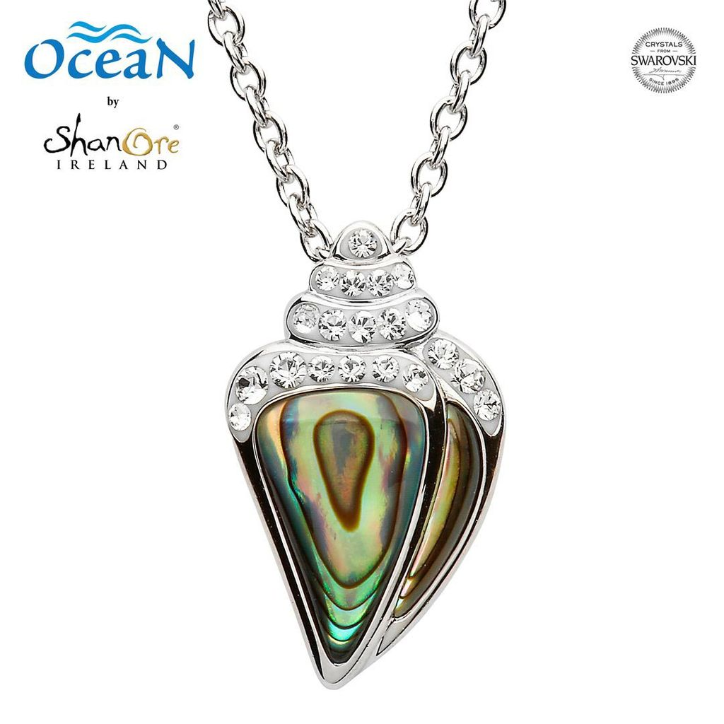 Pendants necklaces oceans sterling shell pendant with abalone pendants necklaces oceans sterling shell pendant with abalone swarovski crystals aloadofball Choice Image