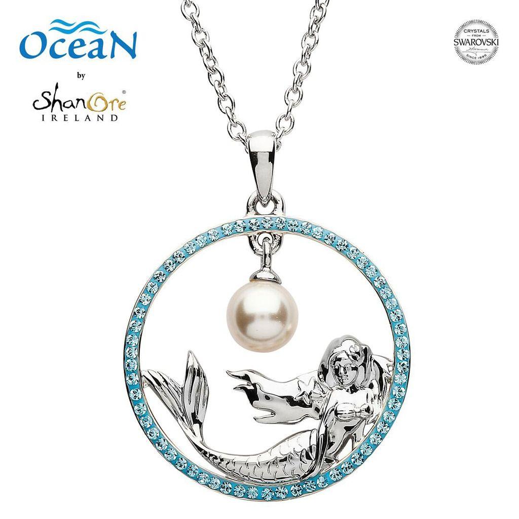 Oceans sterling mermaid pendant with pearl swarovski crystals pendants necklaces oceans sterling mermaid pendant with pearl swarovski crystals aloadofball Gallery