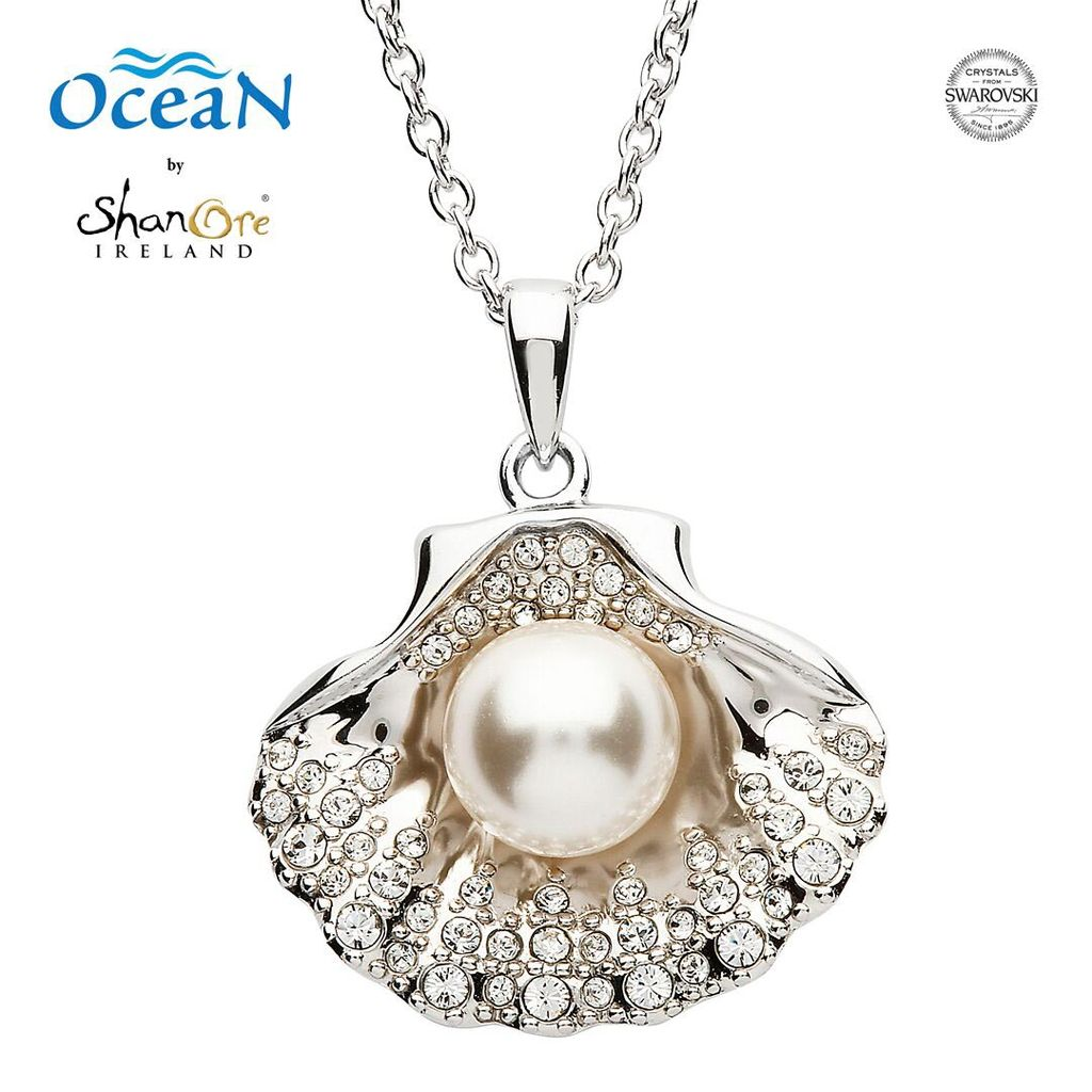 Pendants necklaces oceans sterling shell pendant with pearl pendants necklaces oceans sterling shell pendant with pearl swarovski crystals aloadofball Choice Image