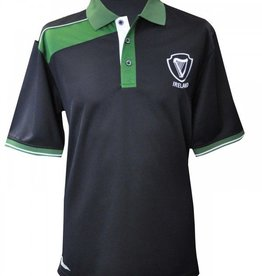 SPORTSWEAR CROKER NAVY & GREEN IRELAND HARP POLO SHIRT
