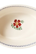 KITCHEN & ACCESSORIES NICHOLAS MOSSE SMALL OVAL PIE DISH - OLD ROSE