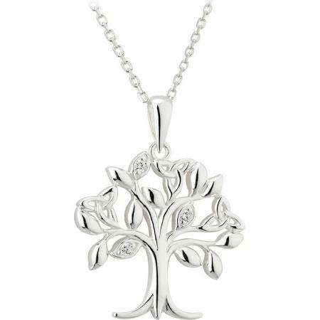 Solvar silver tree of life pendant irish crossroads pendants necklaces solvar sterling tree of life pendant aloadofball Images