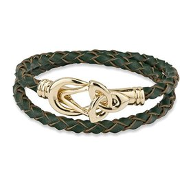BRACELETS & BANGLES SOLVAR LEATHER WRAP BRACELET - GOLD