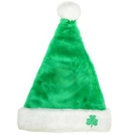 HOLIDAY DECOR GREEN SHAMROCK SANTA HAT