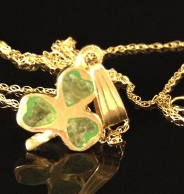 PENDANTS & NECKLACES FACET SML 10K & CONNEMARA SHAMROCK PENDANT