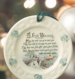 ORNAMENTS IRISH BLESSING BELLEEK ORNAMENT