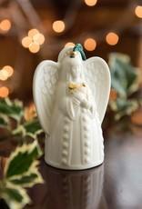 ORNAMENTS BELLEEK BELL ANGEL ORNAMENT with HARP