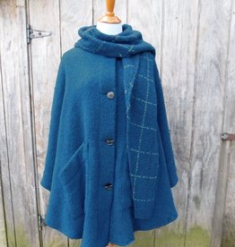 CAPES & RUANAS BRANIGAN WEAVERS TINA CAPE - Petrol