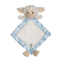 BABY RELIGIOUS MY LITTLE LAMB SNUGGLE BUDDY - BLUE with CROSS