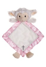 BABY RELIGIOUS MY LITTLE LAMB SNUGGLE BUDDY - PINK with CROSS