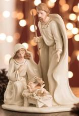 RELIGIOUS BELLEEK LIVING NATIVITY FAMILY - LARGE