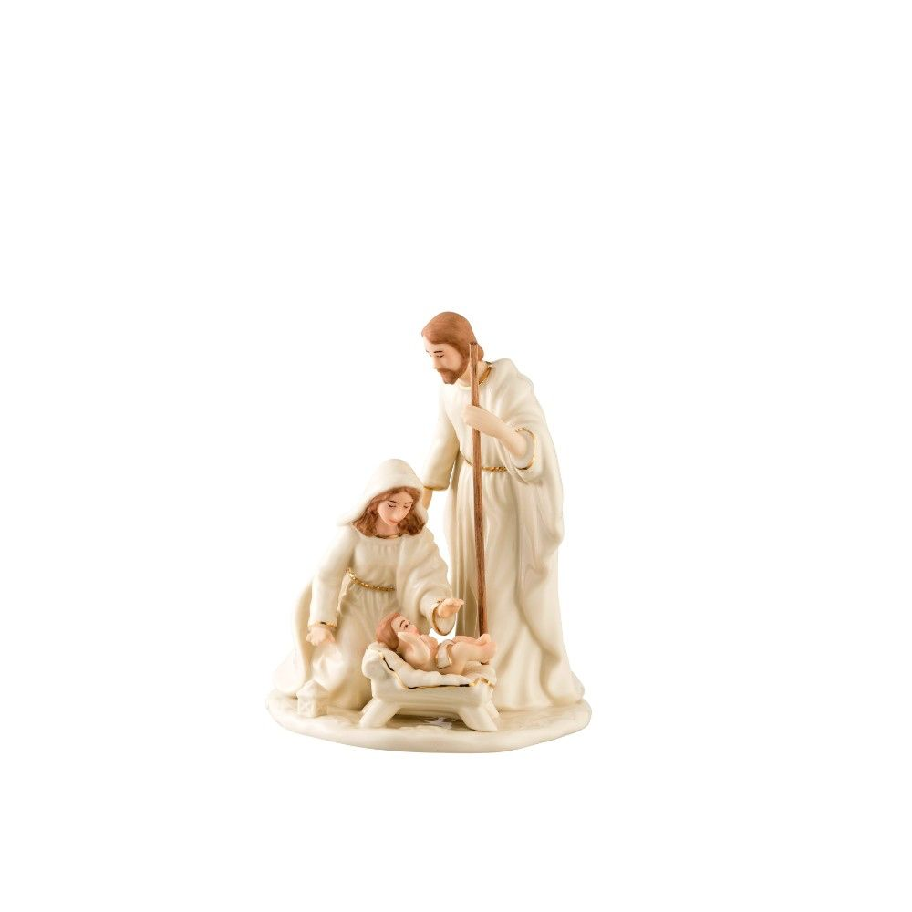 RELIGIOUS BELLEEK LIVING NATIVITY FAMILY - SMALL