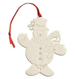 ORNAMENTS BELLEEK LIVING SNOWMAN ORNAMENT with GEMS