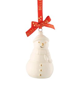ORNAMENTS BELLEEK LIVING MINI SNOWMAN ORNAMENT