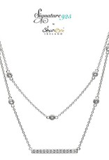 PENDANTS & NECKLACES SIGNATURE 925 - DOUBLE NECKLET PENDANT with SWAROVSKI CRYSTALS