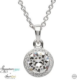 PENDANTS & NECKLACES SIGNATURE 925 - HALO NECKLACE with SWAROVSKI CRYSTALS
