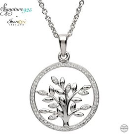 PENDANTS & NECKLACES SIGNATURE 925 - TREE OF LIFE PENDANT with SWAROVSKI CRYSTALS