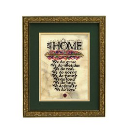 "PLAQUES, SIGNS & POSTERS ""IN OUR HOME..."" 8x10 MANUSCRIPT"