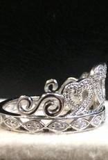 RINGS FADO STERLING IRISH PRINCESS RING with CZs