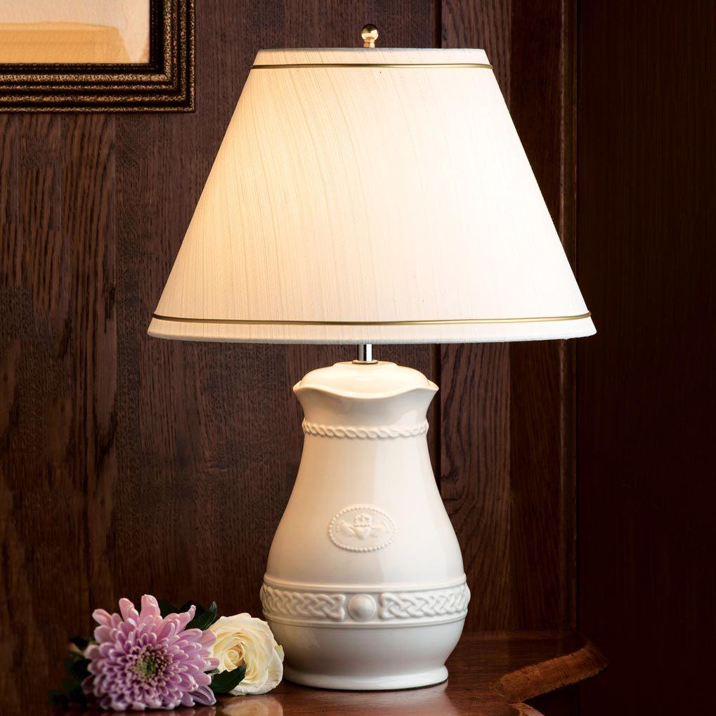 CANDLES & LIGHTING BELLEEK CLADDAGH LAMP