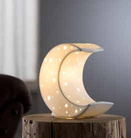 CANDLES & LIGHTING BELLEEK CRESCENT MOON LUMINAIRE