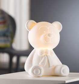 CANDLES & LIGHTING BELLEEK TEDDY BEAR LUMINAIRE