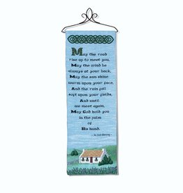 TAPESTRIES, THROWS, ETC. MAY THE ROAD RISE 13x36 WALLHANGING