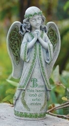 "GARDEN ""BLESS THIS HOUSE"" IRISH GARDEN ANGEL"