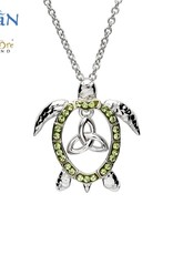 PENDANTS & NECKLACES OCEANS STERLING TURTLE PENDANT with TRINITY & SWAROVSKI CRYSTALS