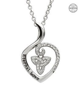PENDANTS & NECKLACES SHANORE STERLING & SWAROVSKI CRYSTAL TRINITY 'Eternal Love' PENDANT