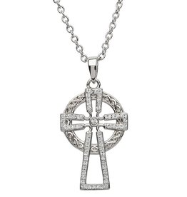 CROSSES SHANORE STERLING & SWAROVSKI CRYSTAL CELTIC CROSS PENDANT