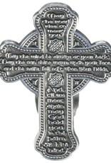 KEYCHAINS/CAR/ETC CELTIC CROSS IRISH BLESSING VISOR CLIP