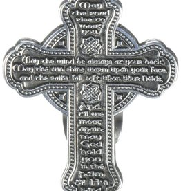 KEYCHAINS/CAR/ETC CELTIC CROSS IRISH BLESSING VISOR CLIP