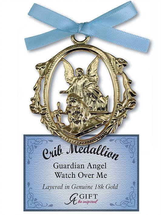 BABY RELIGIOUS CRIB MEDAL - GOLD
